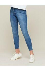 NEW-Ladies-Miss-Selfridge-Blue-Skinny-Stretch-High-Waist-Ankle-Grazer-Jeans-4-12