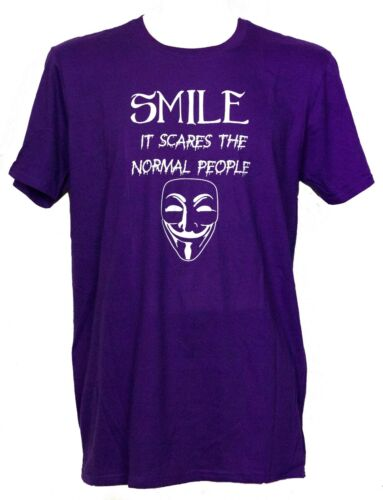 Creepy goth Emo T-shirt Unisex Gift It Scares People VARIOUS COLOURS Smile