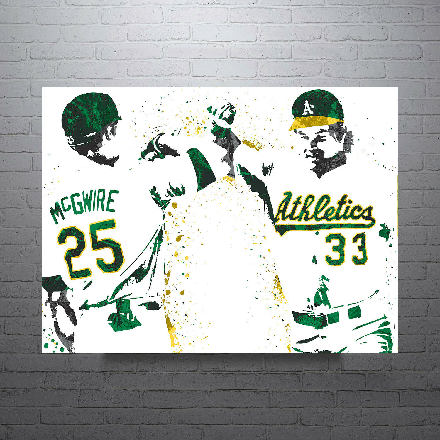 Mark McGwire and Jose Canseco Oakland Athletics Poster FREE US SHIPPING on eBay thumbnail