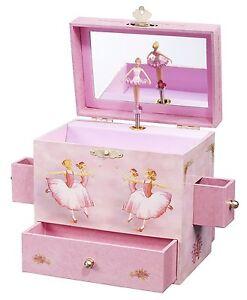 Ballerina Treasure Music Box Plays Swan Lake Dancing Figurine Inside Mirror New