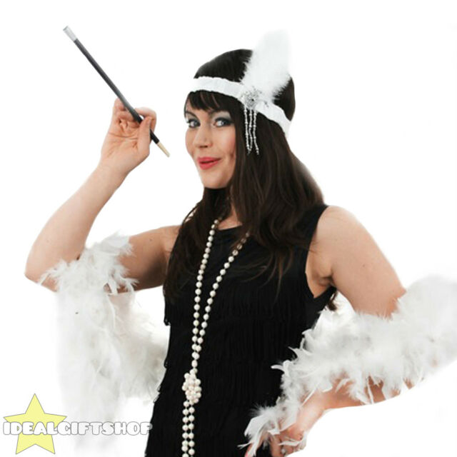 Feather Boa J43 1920s Charleston Flapper Chicago Gangster Fancy Dress Costume
