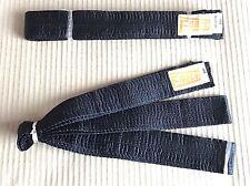 2x Black 300cm Karate Belt - Martial Arts/Ninja Fancy Dress - Seconds