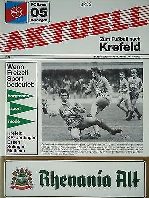 FC Köln Programm 1987//88 Bayer 05 Uerdingen