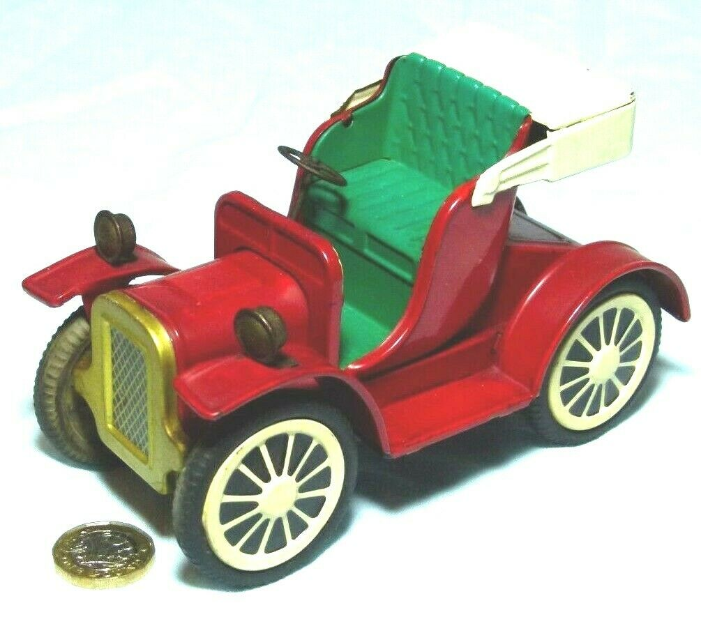 TOY FRICTION WIND UP CAR JAPAN OLD TIMER VETERAN CAR 1950-60s