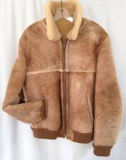 STRATOJAC Shearling Leather Jacket  Mens 42 Coat MARLBORO Bomber Barn Rancher