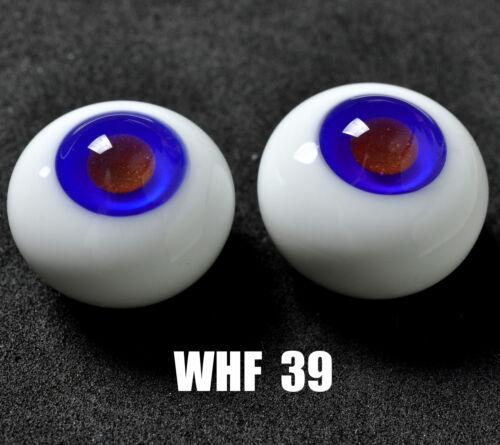 Good Red Pupil/&Blue Iris 12mm Glass Eyes for BJD AOD DD Volks Luts Doll