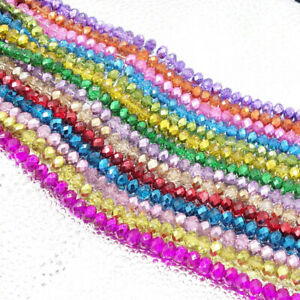 Wholesale-Crystal-Glass-Rondelle-Faceted-Loose-Spacer-Beads-2mm3mm4mm6mm8mm10mm