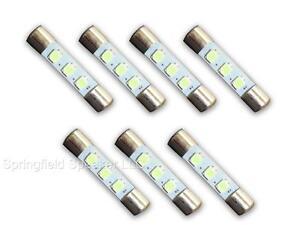 7-COOL-BLUE-8V-LED-Lamp-Fuse-Type-Bulbs-for-Marantz-2215-2220-2220B-7CB