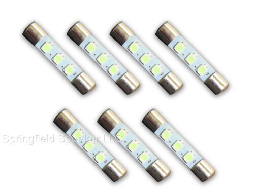 7 WARM WHITE 8V LED Lamp Fuse-Type Bulbs for Marantz 2238 2238B 2240-7WW