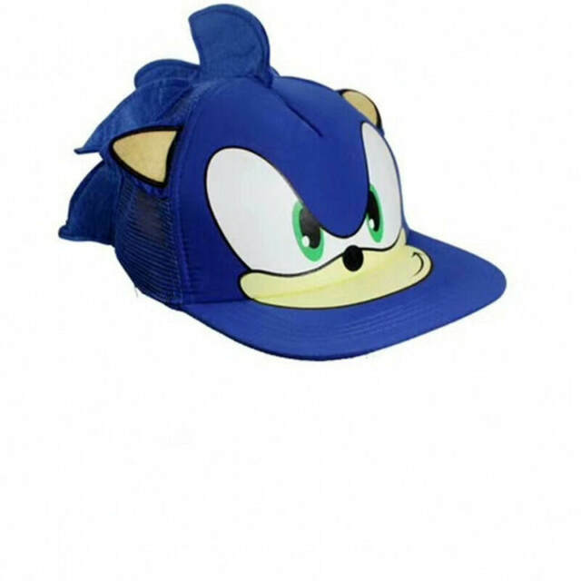 MIAOGE sonic caps 55-60cm New 1pcs Cute Boy Sonic The Hedgehog Cartoon Youth Adjustable Baseball Hat Cap Blue For Boys party gifts
