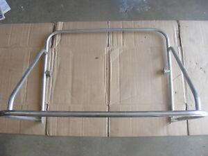 SS-Boat-Grab-Rail-Center-Console-Top-Mount-Metallic-Bar-33-034-x-24-034