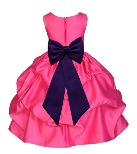 Flower Girl Princess Dress Kid Party Pageant Wedding Bridesmaid Child Dresses