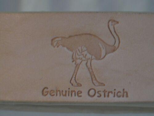 HANDMADE LOS ALTOS GENUINE AUTHENTIC ORYX OSTRICH WESTERN COWBOY BELT