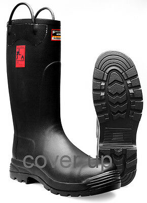 FIREFIGHTER 4000 INDUSTRIAL SAFETY RUBBER FIRE WELLINGTONS WELLIES USED GRADE A