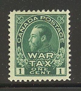 Canada-MR1-1915-1c-King-George-V-War-Tax-Issue-Unused-HR