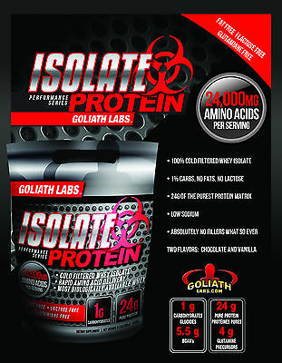 Goliathlabs 100% Whey Protein Isolate 2oz 3 Amazing Flavors From Sample Pack