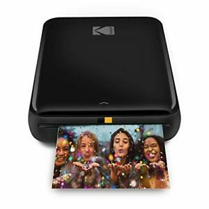 KODAK Step Wireless Mobile Photo Mini Printer Black Compatible w/ iOS & Andro...