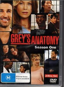 GREYS-ANATOMY-SEASON-ONE-DVD-R4-2006-2-Disc-Set-Good-Cond-FREE-POST