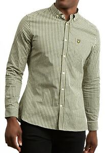 1d6e20173a10 Lyle & Scott Mens Long Sleeve Casual Gingham Check Shirt Slim Fit ...
