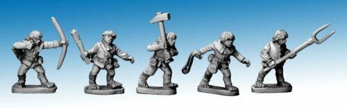 Copplestone Castings-Halfling Militia II-HF04