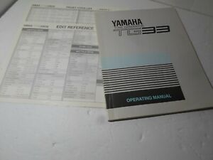 Vintage-original-owners-Manual-Accessory-to-Yamaha-TG-33-Vector-Synthesizer-RARE
