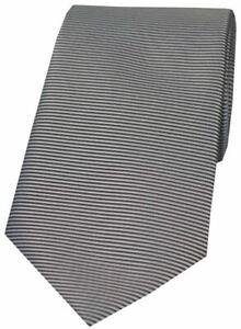 David-Van-Hagen-Mens-Horizontal-Ribbed-Polyester-Tie-Grey