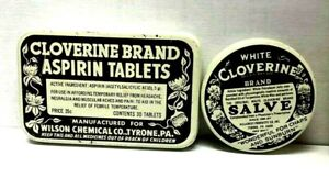 Two-Different-Vintage-Cloverine-Medicine-Tins