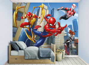 Details About Spiderman Wallpaper Mural For Kids Bedrooms Walltastic