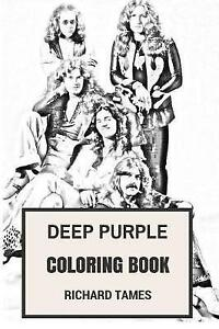 Image Is Loading Deep Purple Coloring Book English Rock Legends And
