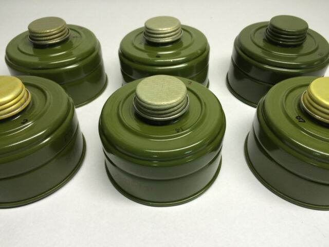 GP-5M Israel PMK NATO 6 pcs Gas Mask Replacement Filters 40mm for GP-5 GP-7