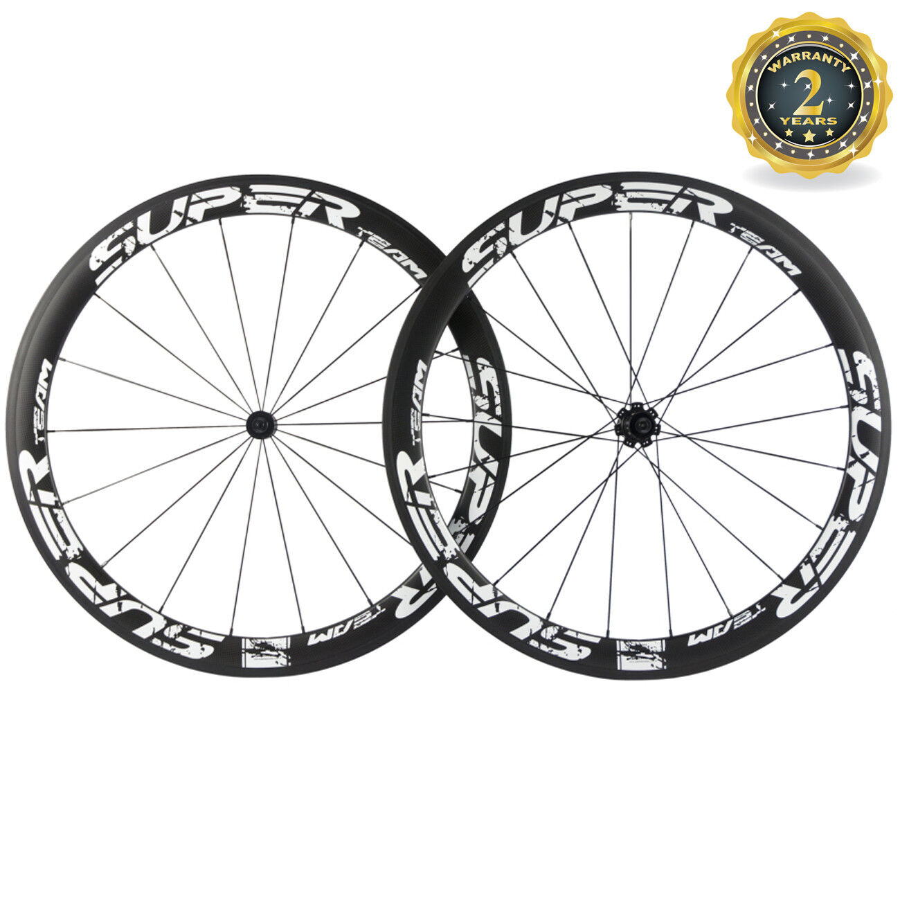 White Superteam  Carbon Wheelset 50mm Clincher Road Bicycler Wheels 700C R7 Hub  we supply the best