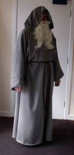Brown polyester jedi robe for fancy dress lap cosplay