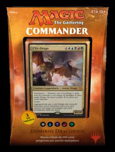 ITALIAN-Magic-MTG-2017-Commander-C17-Draconic-Domination-Deck-The-Gathering-NIB