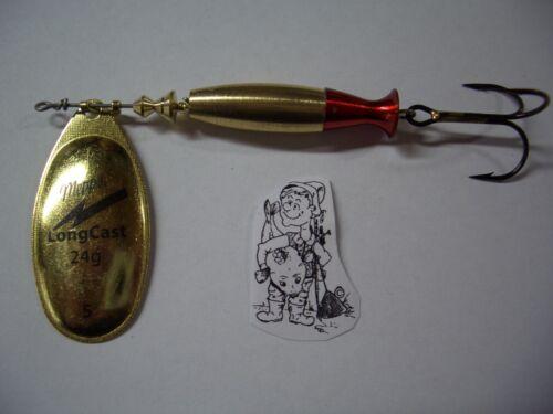 Original MEPPS LONGCAST Long Cast Gold taille 5//24g art Appât Clignotants détraqué