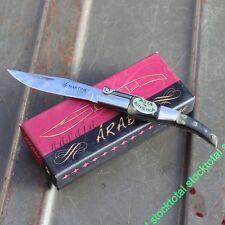 NAVAJA ARABE MANGO ASTA DE TORO HORN BULL POCKET KNIVES MESSER HOJA 7 CM 01051 M