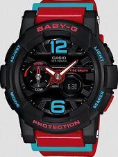 Casio Baby-G * BGA180-4B Anadigi G-Lide Red, Blue & Black Women COD PayPal