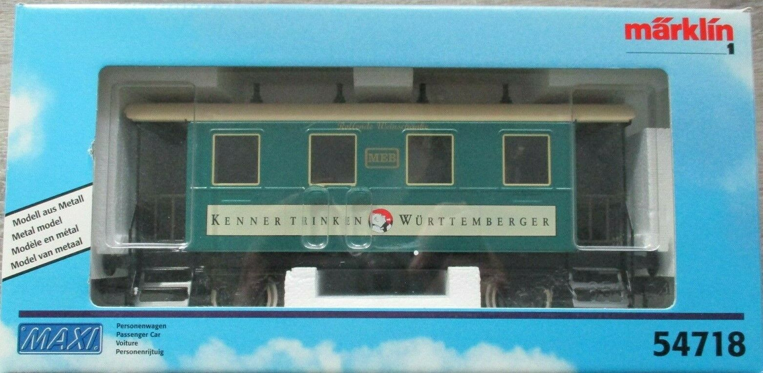 NUOVO IN SCATOLA MARKLIN 1 Gauge 54718 ROLLING WINE BAR autovettura luci interne