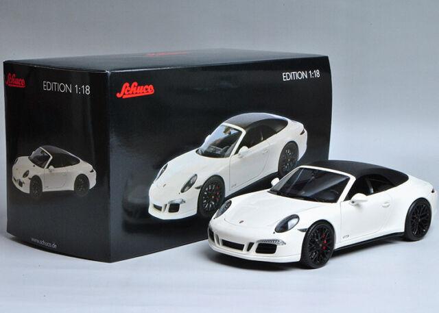 Schuco 118 Porsche 911 Carrera Gts 991 Cabriolet Sport Car Die Cast Model White