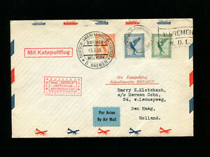 Image Is Loading Catapult Cover K26c 1930 Germany Post To Usa