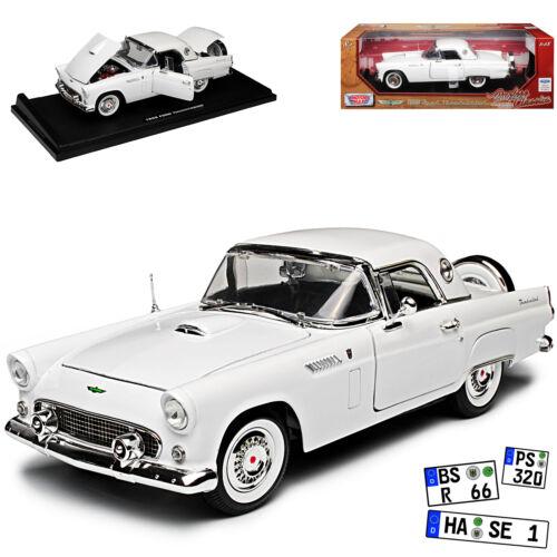 Generation 1955-1957 Ford Thunderbird Cabrio Weiss mit Hart Top Classic Birds 1