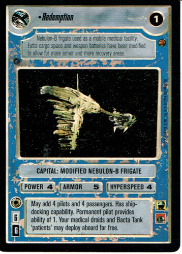 STAR WARS CCG REFLECTIONS VRF CARD REDEMPTION