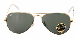 784c60367e490 Image is loading RAY-BAN-Aviator-58mm-Classic-Green-Sunglasses-RB3025-