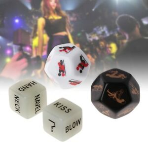 4pcs/set Sides Sex Funny Dice Game Toy Set Couple Adult Bachelor Party Gift Love