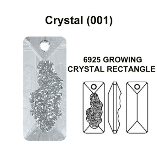 Genuine NEW Swarovski 6925 Growing Crystal Rectangle Pendant *Pick Size /& Colour