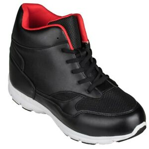 G33324 Blackamp; Calto Increase Height Inches Fashion Red Elevator Sneakers uKcJTFl13