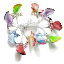 1.65M 10LEDs Battery Operated Fairy Decorative Fiber Optic Bird String Light RGB