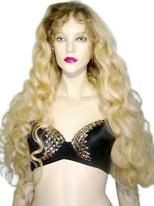 Remi-Remy-Full-Lace-Wig-Indian-Human-Hair-Blonde-Mix-Body-Wave-Long-T-Color