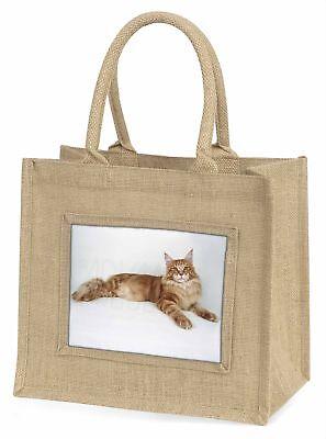 rot Maine-Coon Katze große natürliche jute-einkaufstasche Weihnachten