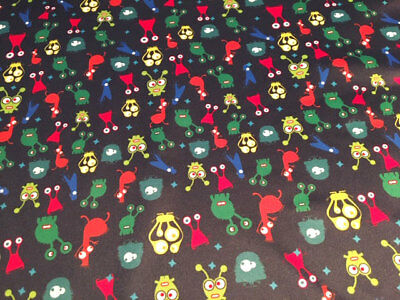 Aliens Pul Fabric For Nappies & Wetbags Price Per Fat Quarter 50x75cm Elegant Shape Crafts