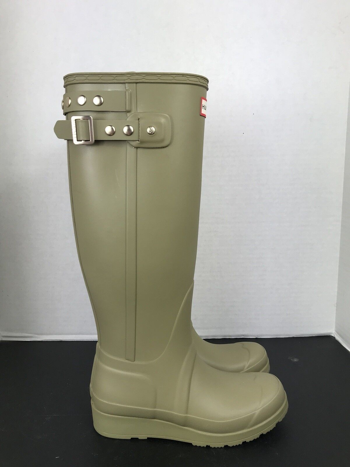 Hunter Original Tall Studded Wedge Rain Boot, Sage SZ 5US 5US 5US 36EU 2ce404